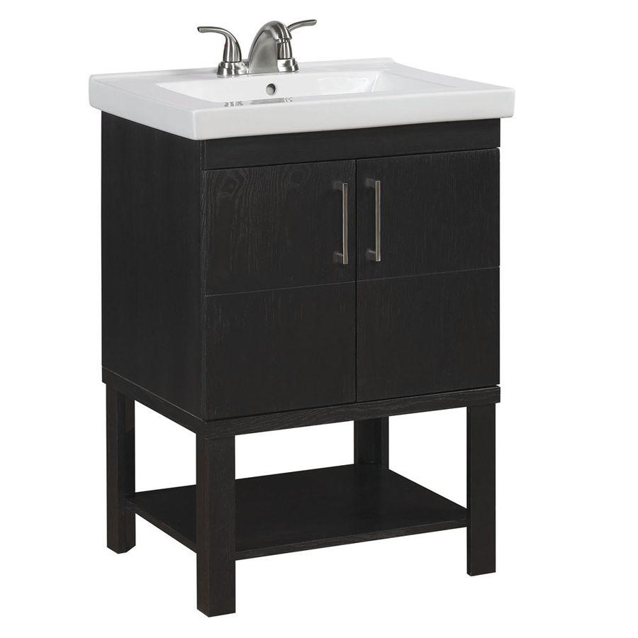 Shop Allen Roth Foley In X In Espresso Undermount Single - Where to shop for bathroom vanities