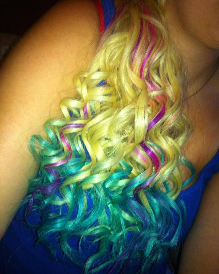 Dip Dyed With Splat Lusty Lavender Aqua Rush And Blue Envy Cool