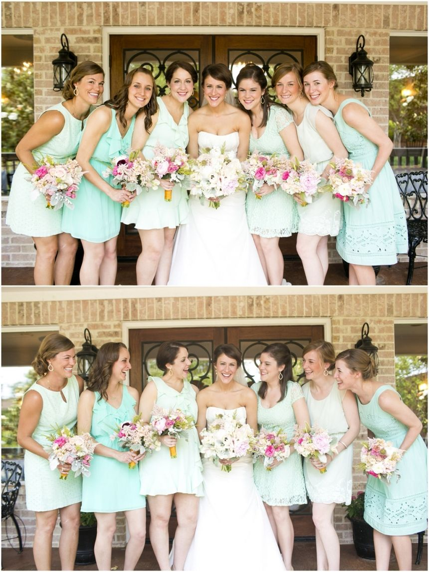 Megan joe pastel bridesmaids mint bridesmaid dresses and different dresses mint bridesmaid dresses pastel bridesmaid bouquets bridal party pictures bridesmaids ombrellifo Image collections