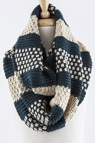 Multi Pattern Knit Infinity Scarf Knittingchrochet Ideas