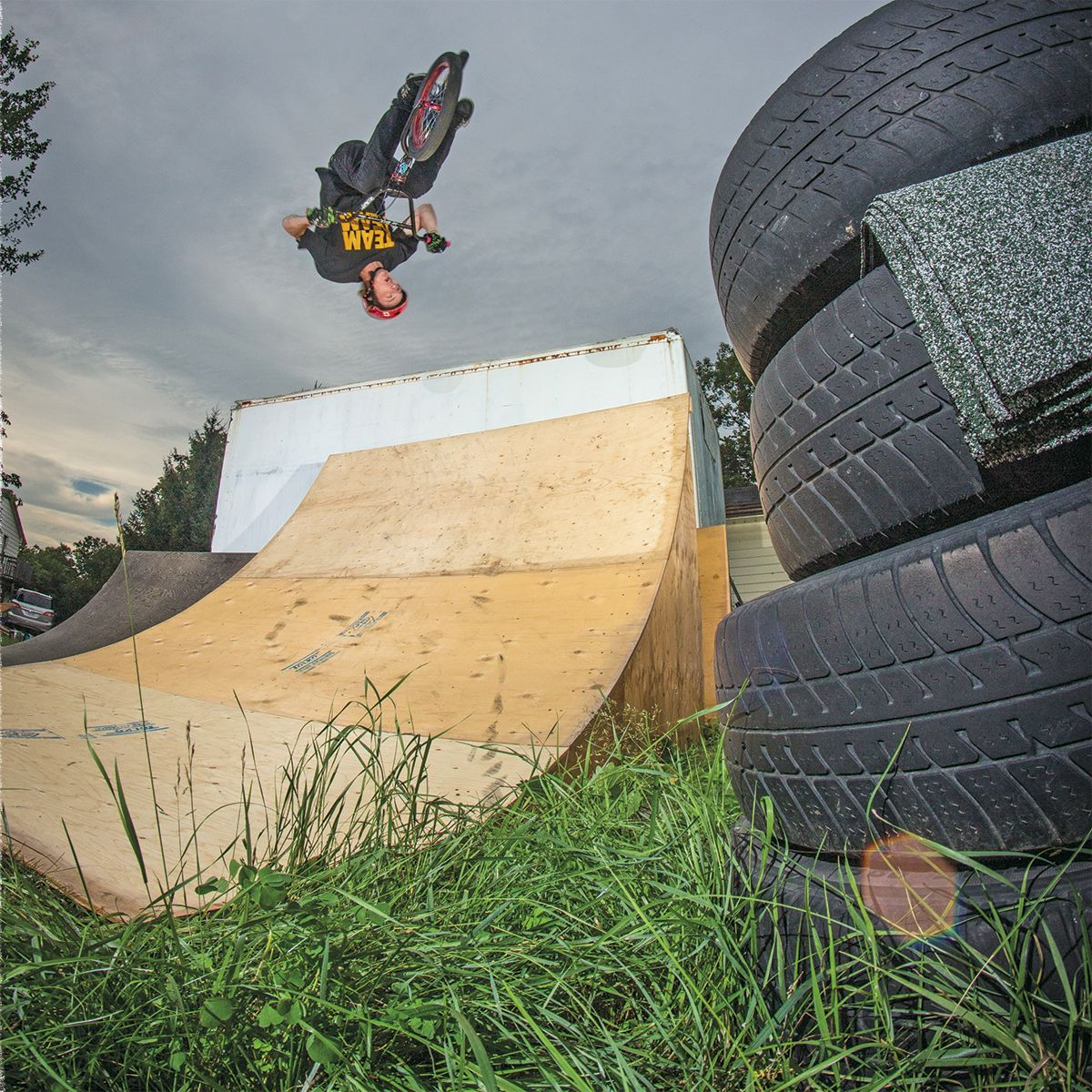 bmx rider cody fry backyard flair photo credit to brody