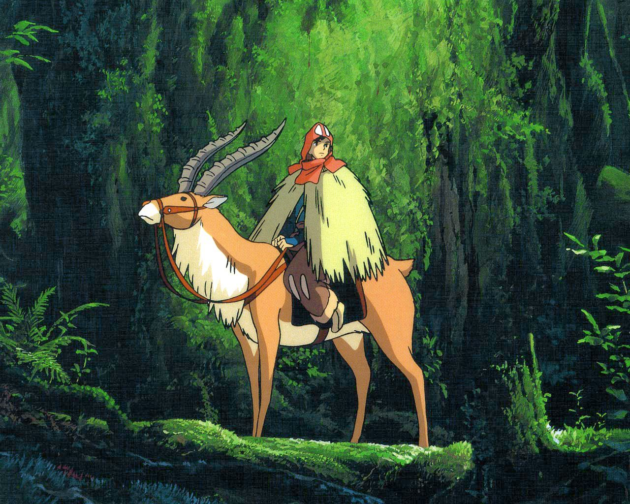 Princess Mononoke: Mononoke Hime - Ashitaka and Yakul on a ...