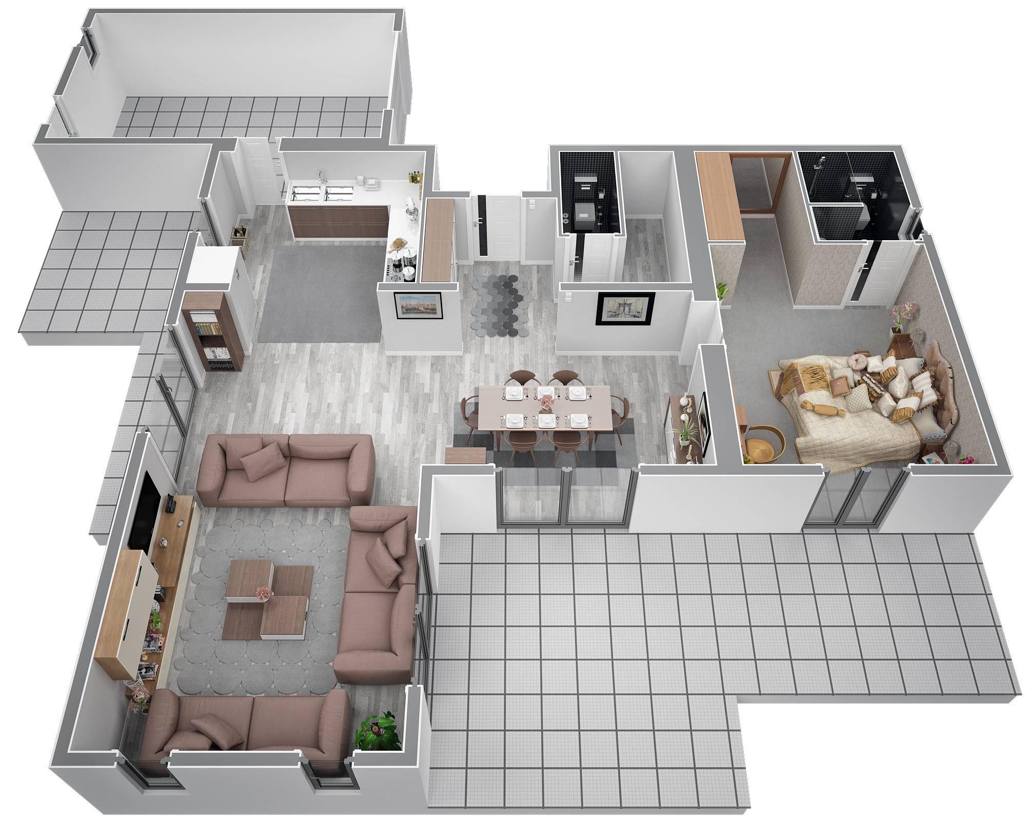 azur logement provencal vous pr sente la villa contemporaine lavande contemporaine 130m2 m me s. Black Bedroom Furniture Sets. Home Design Ideas