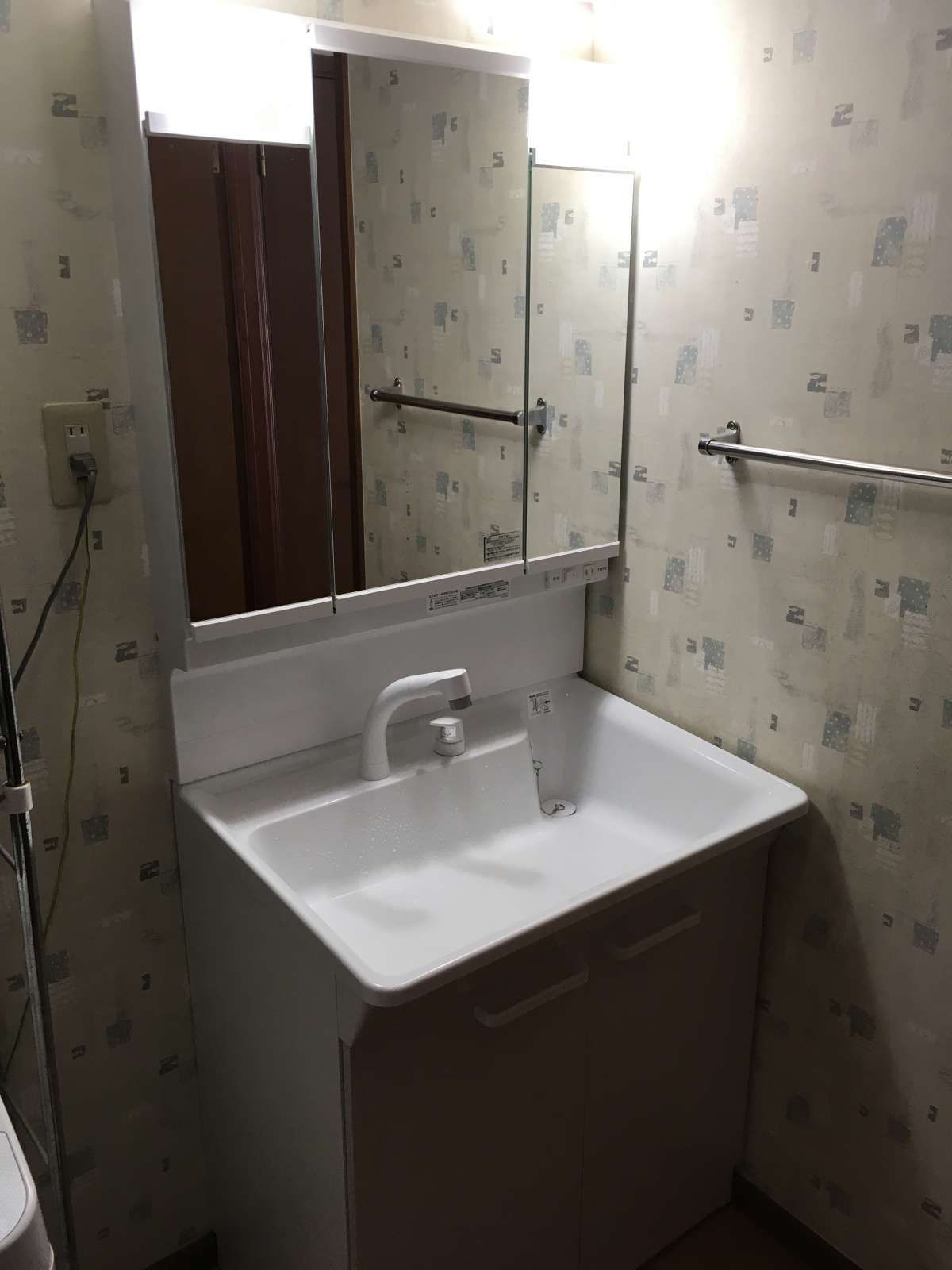 洗面化粧台 Toto Keシリーズが大特価 洗面台やトイレ 給湯器 エアコンなどの交換なら便利屋handyman 洗面 洗面化粧台 洗面台