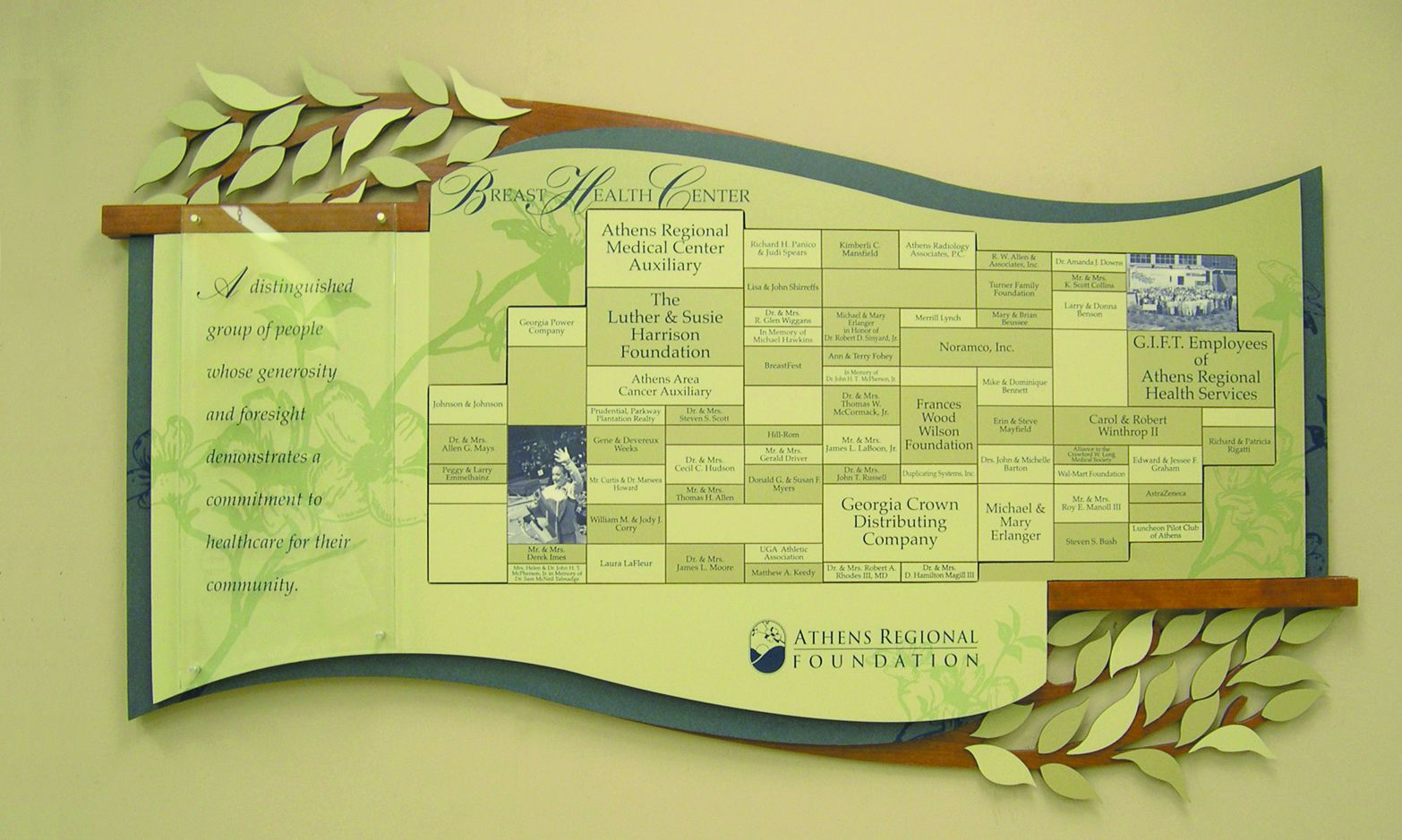 Athens Regional Fdn   Partners In Recognition Inc.   donor walls ...
