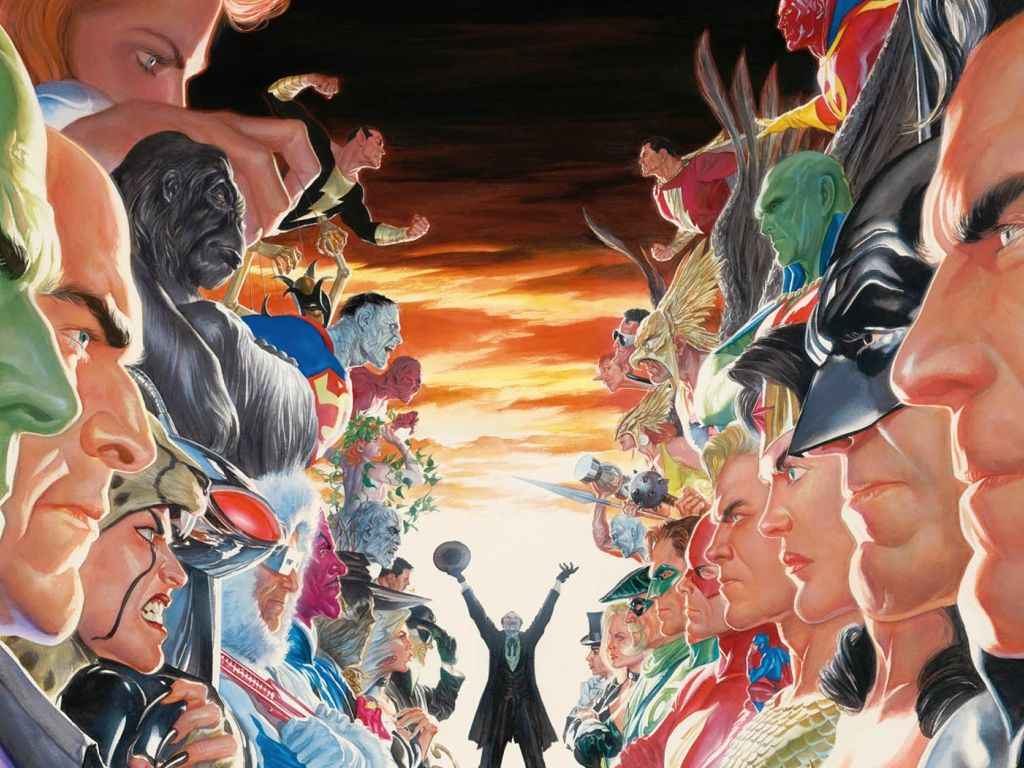 Absolute Justice Wallpaper Dc Alex Ross Comic Art Community