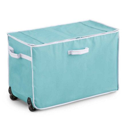 Rolling Storage Container   Zippered Top, Handles In The Right Place,  Wheels To Make It Truly Useful.