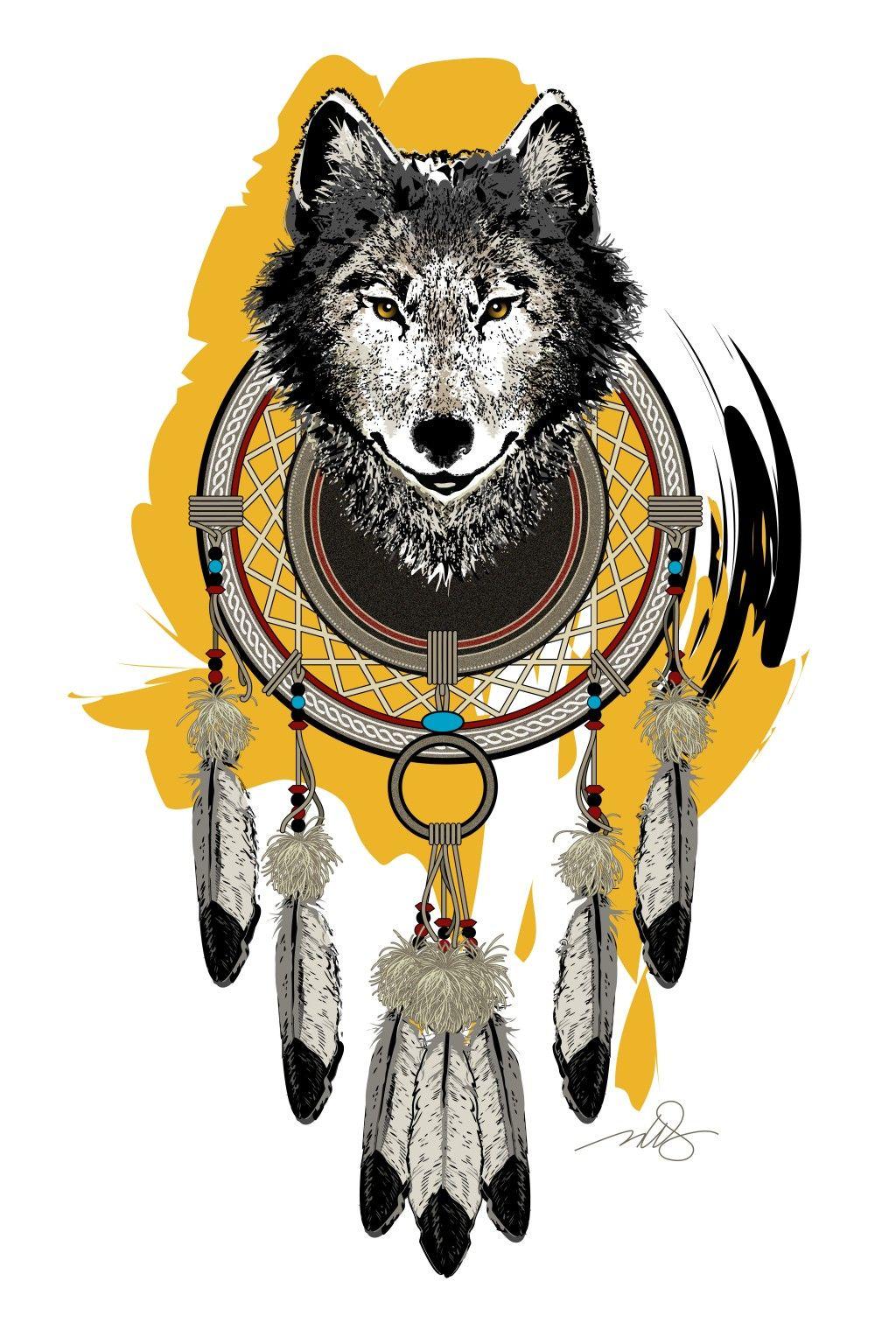 animal spirit art of bear coyote eagle sky snake and