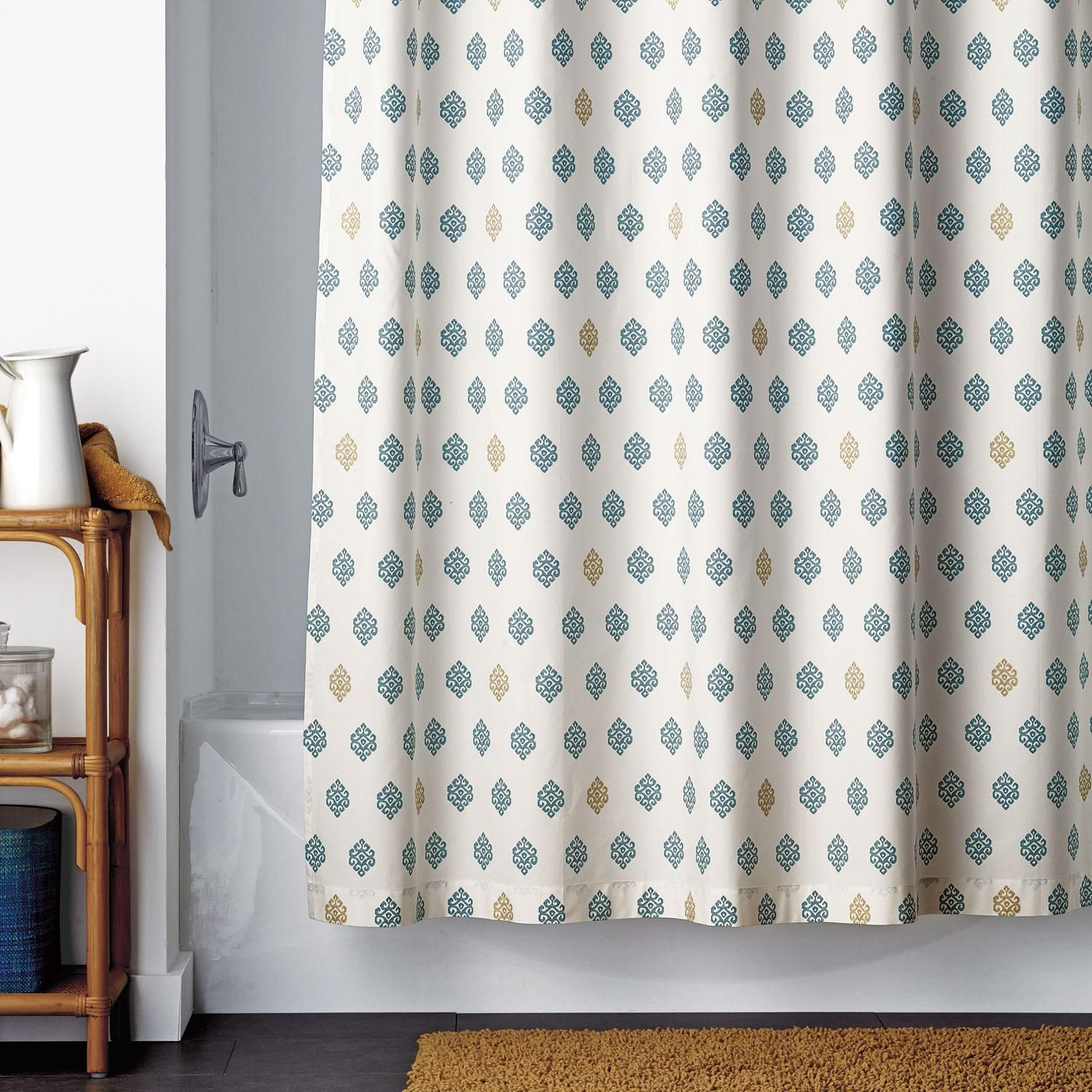 Linen Foulard Shower Curtain At The Company Store