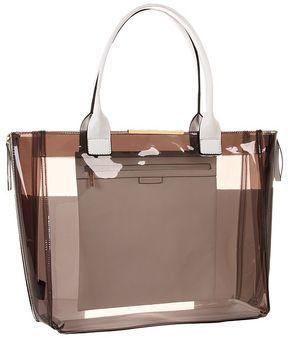 f7e5a8786e7 shopstyle.com  BCBGMAXAZRIA Carly Pvc Zipper Tote (White Combo) - Bags and  Luggage