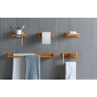 Buy 5 Piece Bathroom Accessory Set Oak Effect At Argos Co Uk Visit Argos Co Uk Bathroom Accessories Sets Bathroom Accessories Bathroom Necessities