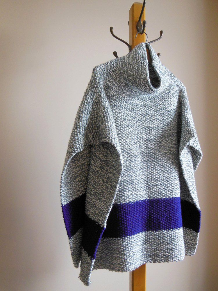 2c8a1f5d351 Chilly Day Poncho Knitting pattern by Diana Poirier