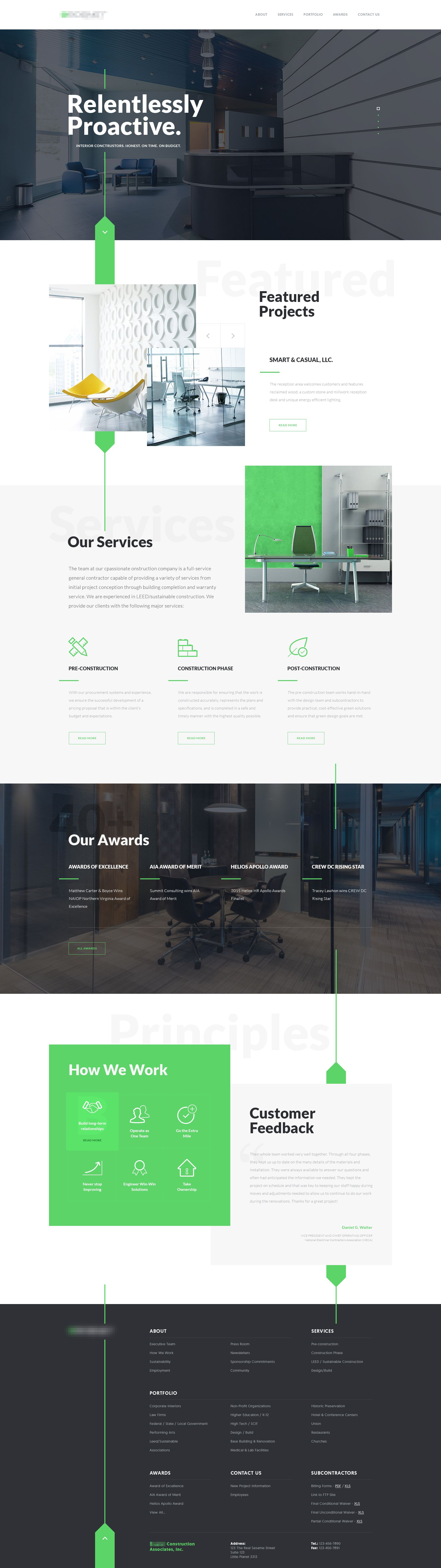 Interior Construction Company Website Design