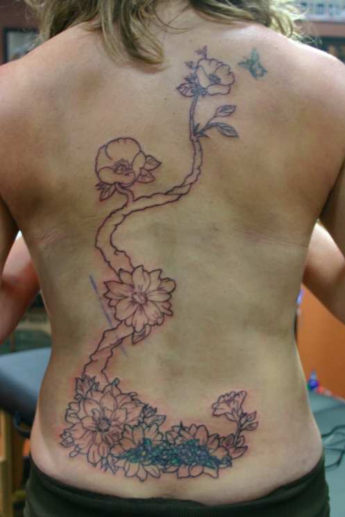 tramp stamp cover up tattoos | Shaded with swash gen 7 (13 mag) , colored with tattooed pirate ...
