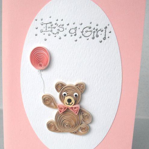 Открытки, открытка новорожденным квиллинг