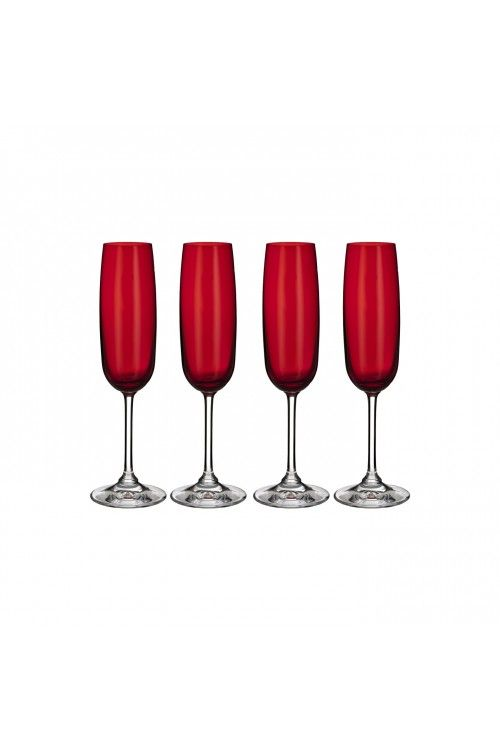 Marquis by Waterford Vintage Red Flute, Set of 4 - at Waterford ...