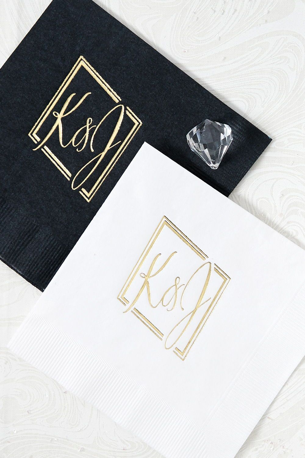Customize Your Wedding With Personalized Cocktail Napkins Shop From Our Curated G Custom Wedding Napkins Wedding Cocktail Napkins Wedding Napkins Personalized