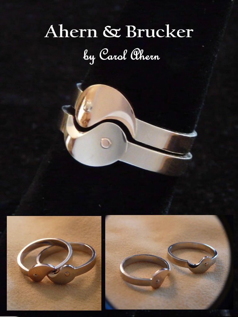 Ahern Brucker Yin Yang Wedding Ring Set Wedding Rings