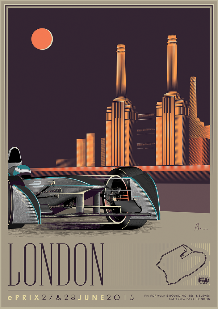 Formual e and the return of the art deco poster art for Art deco origin
