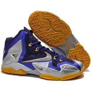 Nike LeBron 11 616175 265 Blue Silver Yellow For Wholesale