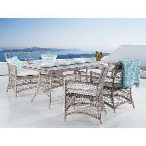 4 Sitzer Gartengarnitur Latia Mit Polster Home Loft Concept