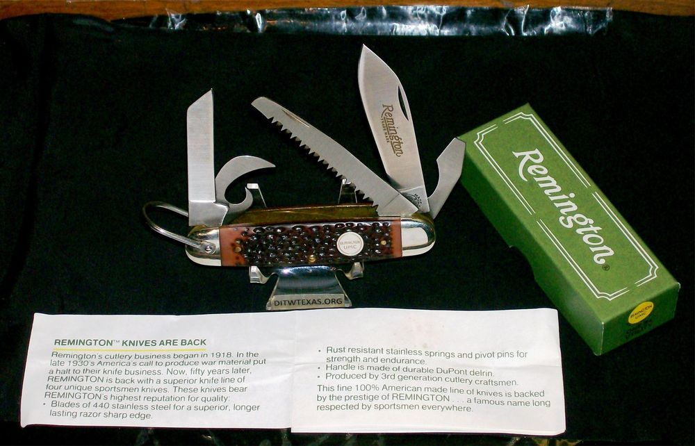 Remington R4 Survival Camping Knife Scout Pattern UMC Shield