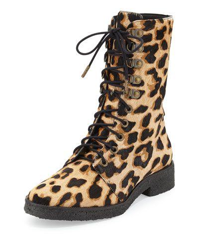 1d8a20faa59a X2EJF Diane von Furstenberg Ace Leopard-Print Calf Hair Combat Boot ...
