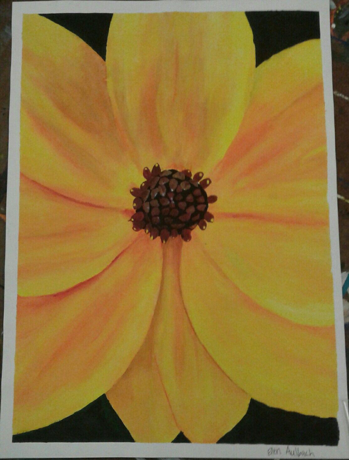 Yellow Flower Painting By Ellen Aulbach My Artwork Pinterest