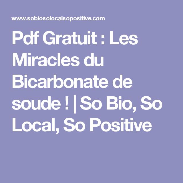 pdf gratuit : les miracles du bicarbonate de soude ! | so bio, so