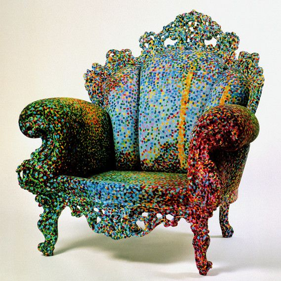 the chair is the most famous design by italian designer alessandro mendini