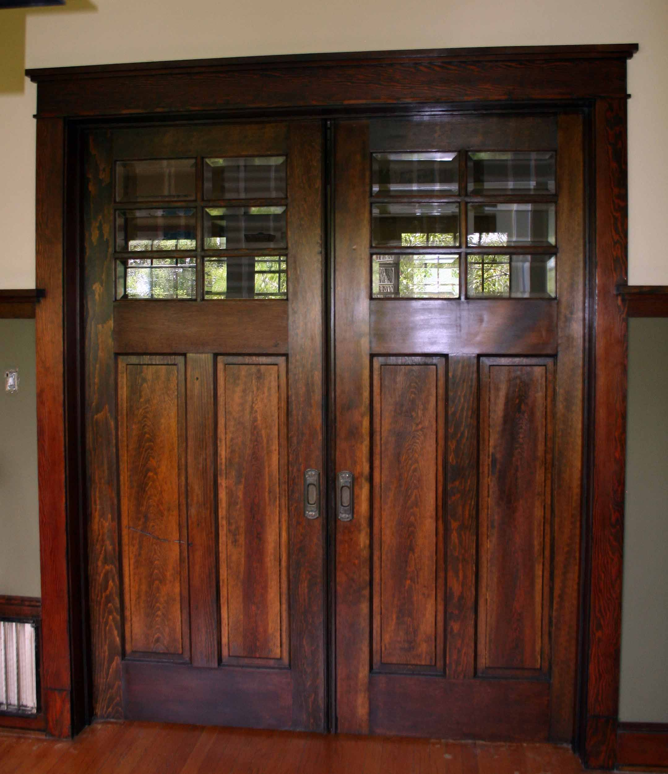 These Gorgeous Pocket Doors Had The Paint Stripped Off Them To Expose The  Original Stain.