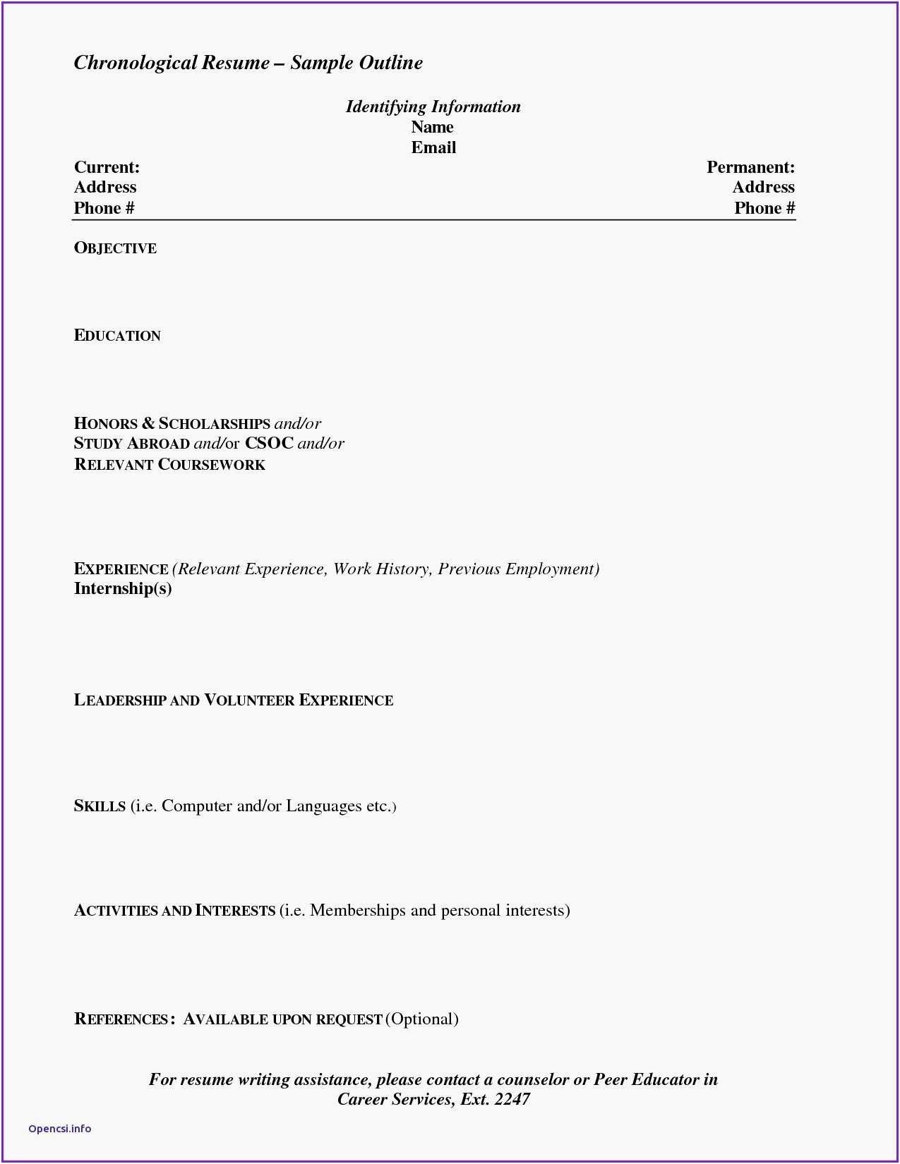 Resume Format Indeed Chronological Resume Job Resume Business