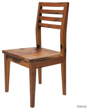 Simple Rustic Wooden Dining Chair