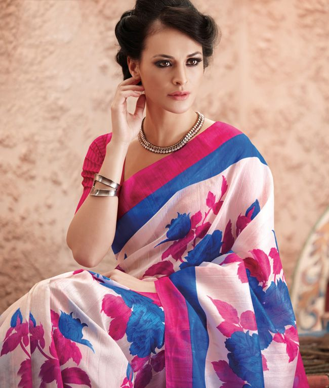 The time for you to transform into a show-stopper and to become the center of everyone's undivided attention is here as fashionandyou.com brings to you a fabulous collection of exquisite sarees from Roopkashish. Take your pick, each piece from this collection is nothing short of a masterpiece that truly deserves its place in every fashion connoisseur's closet.BRAND: RoopkashishCATEGORY: Saree with Unstitched BlouseARTICLECOLOURMATERIALLENGTHSareeWhite, Blue and MultiBhagalpuri Silk5.50…