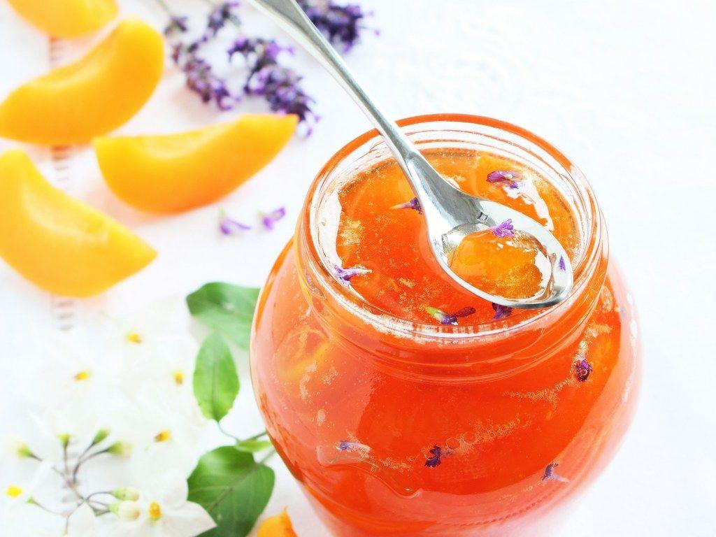 confiture abricot et jus de citron