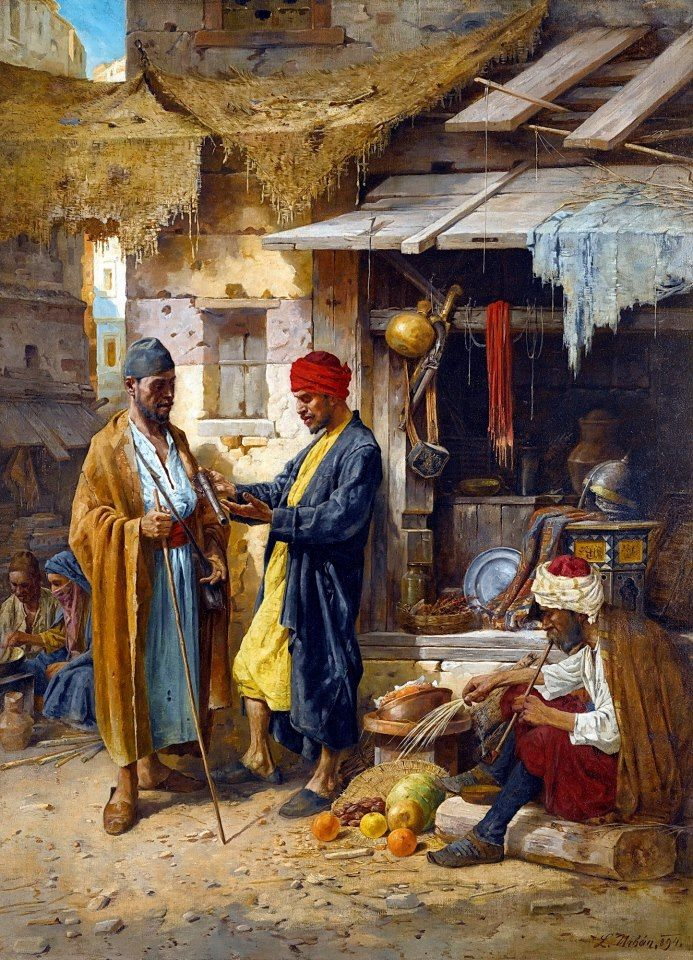 An Eastern Market 1894 by L. Urbán Hungarian . 19 c Oil