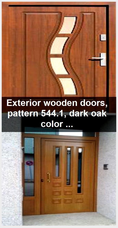 Photo of Utvendige tredører, mønster 544.1, mørk eik farge- Drzwi …- Utvendige tre …, # Farge …
