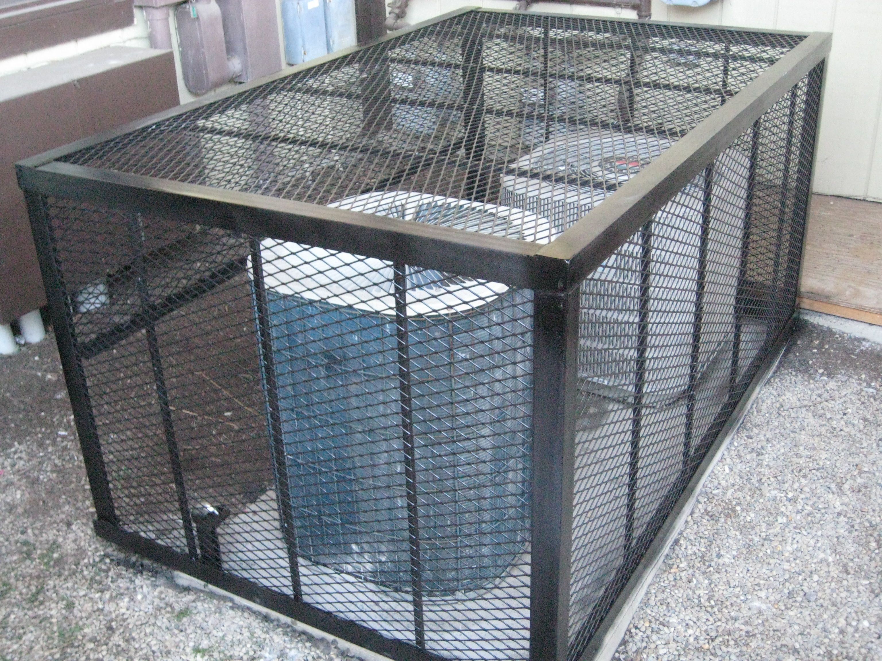 Dual Air Conditioner Cage Trash can, Air conditioner