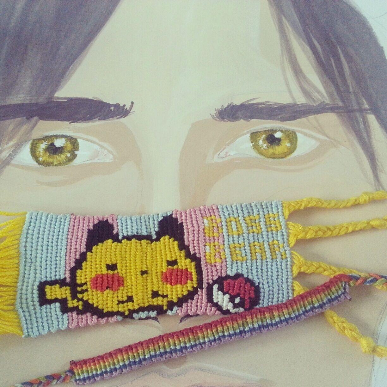 Pikachu Friendship Bracelet Pattern Number 11138  For More Patterns And  Tutorials Visit Our Web Or