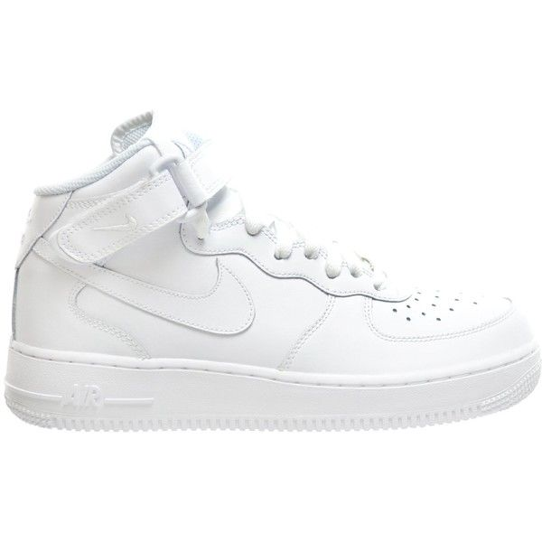 Nike Air Force 1 Mid (GS) Big Kids Sneakers White/White 314195-