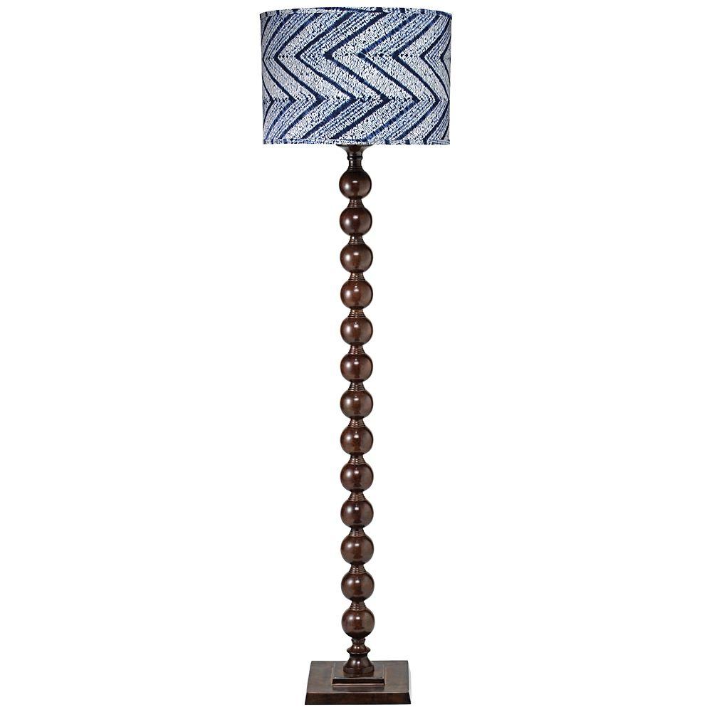 jamie young luna indigo batik chocolate metal floor lamp style