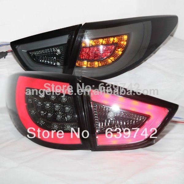 2010 2013 Year For Hyundai Tucson Ix35 Led Strip Rear Lamps Smoke Black Color Sn Style