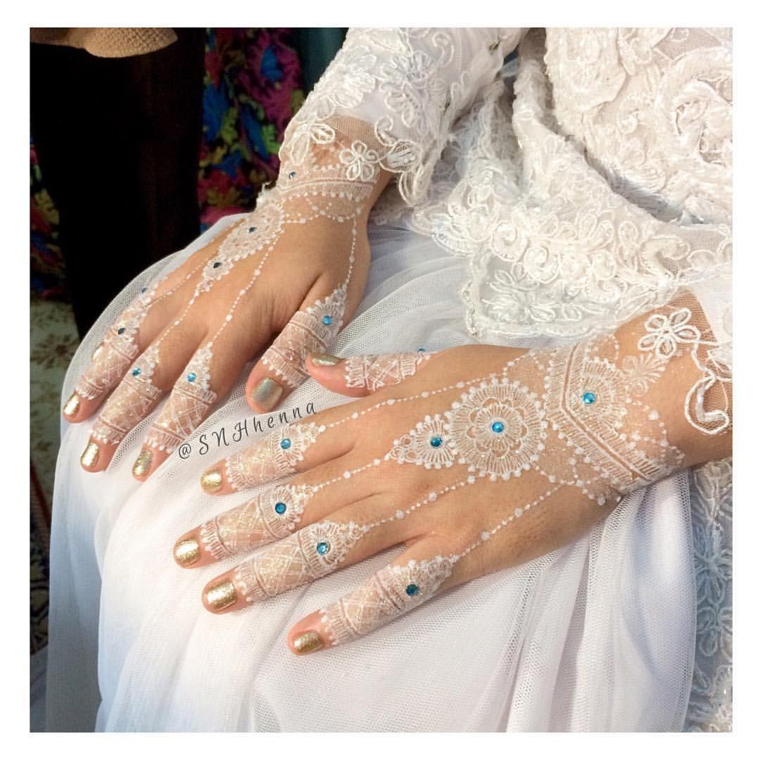 White Henna Wedding Kk Cantik Nan Baik Hatiii Gitalidia