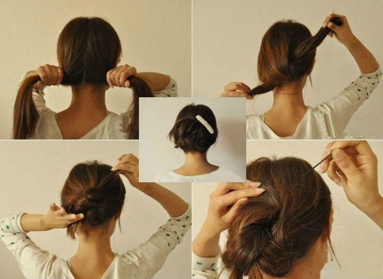 22 Super Easy Hair Hacks That Will Get You Out The Door Faster Easy Hairstyles Thick Hair Styles Hair Hacks