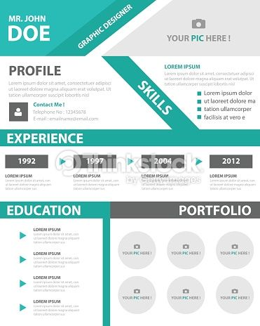 Clipart Vectoriel  Creative Resume Business Profile Cv Vitae