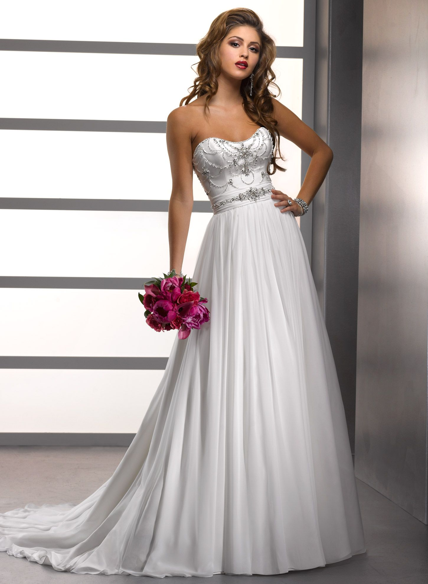 Fabulous Adele Wedding Gown by Maggie Sottero You can purchase this gown locally at the Bridal Suite