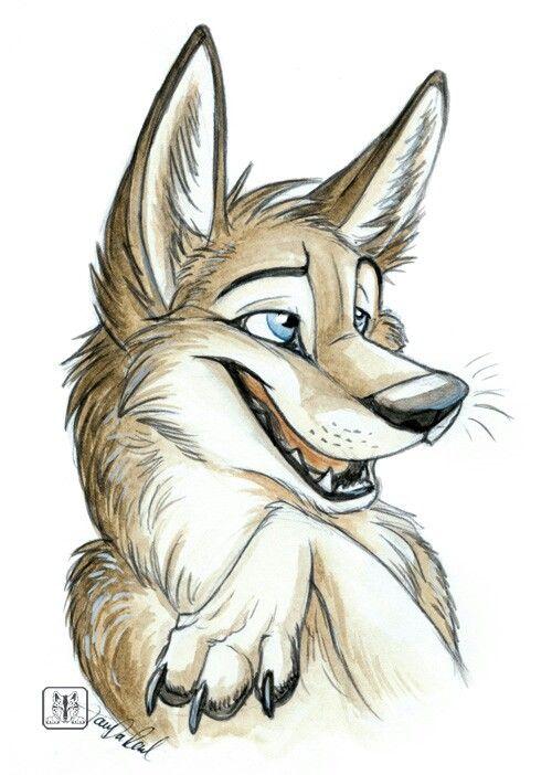 Волк прикольный рисунок