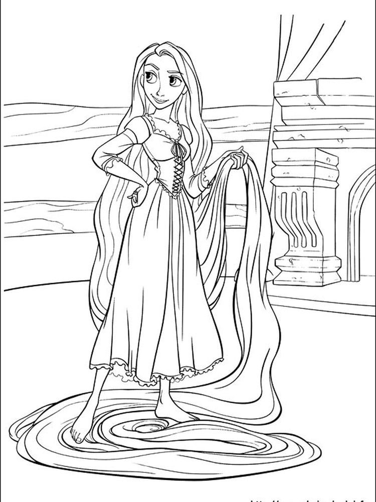 Rapunzel Coloring Pages Free Printable In 2020 With Images Tangled Coloring Pages Princess Coloring Pages Rapunzel Coloring Pages