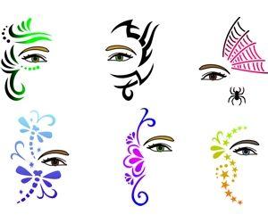 Cara Maker esténcil Set Creativo diseños de arte