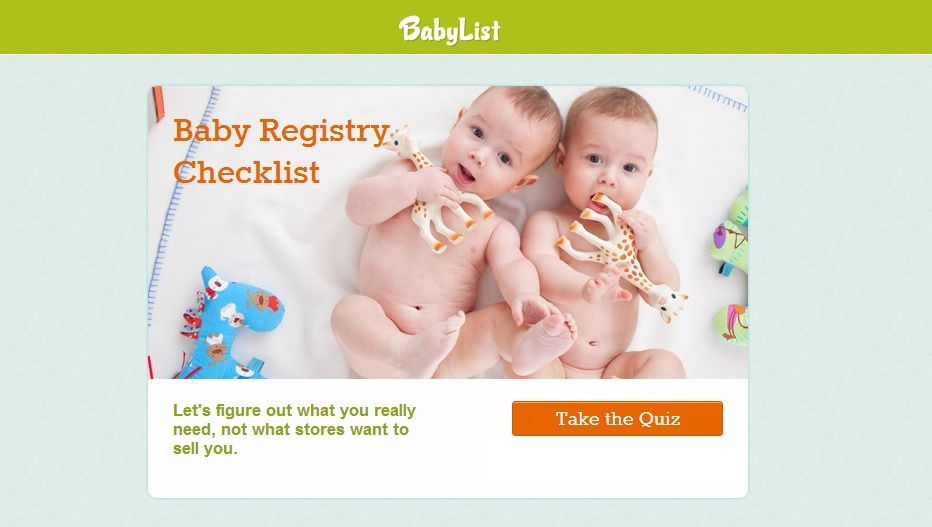 BabyList Registry CheckList | Baby registry, Baby list ...